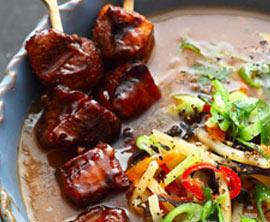 Peking-Suppe mit Hähnchenfleisch