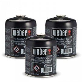 Weber Gas-Kartusche 3er für Q 100-/1000 Serie, Performer, Go Anywhere