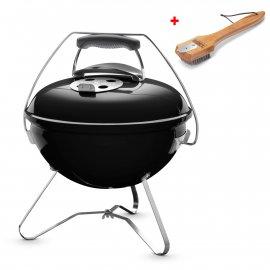 Weber Smokey Joe Premium 37 cm, Black + gratis Grillbürste