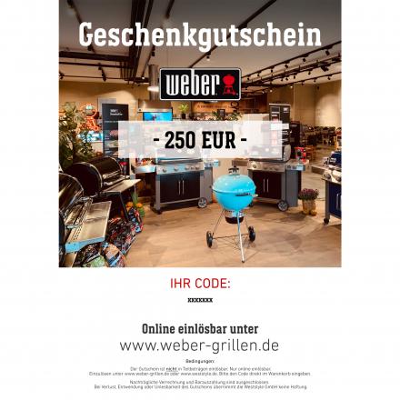 Weber Geschenkgutschein 250 EUR