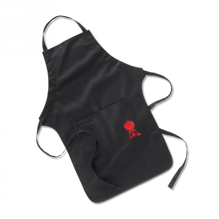 Weber Grillschürze schwarz mit rotem Kettle Grill