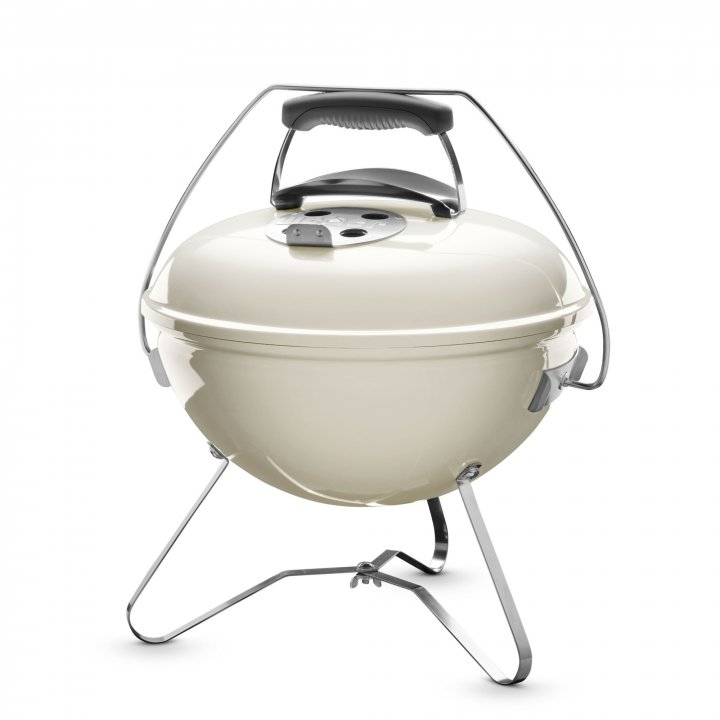 Weber Holzkohle-Grill Smokey Joe Premium 37 cm Creme