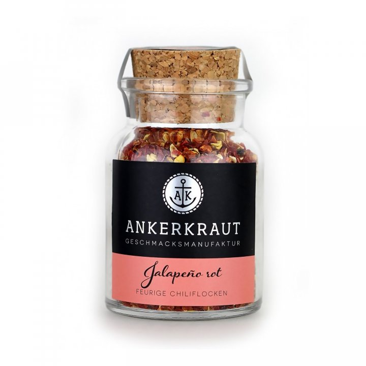 Ankerkraut Jalapeno rot, geschrotet