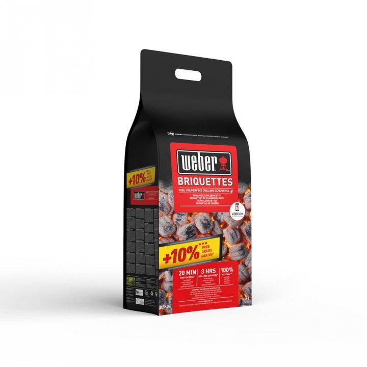 Weber Brikett 8,8 Kg (10% gratis)