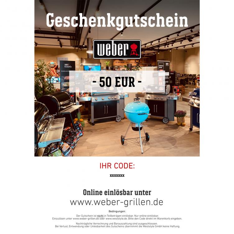 Weber Geschenkgutschein 50 EUR