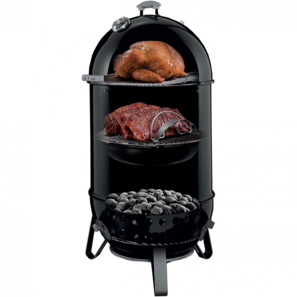 weber smokey mountain cooker 57 cm g nstig kaufen weststyle. Black Bedroom Furniture Sets. Home Design Ideas