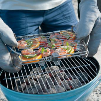 Weber Fisch und Gemüsehalter klein, Edelstahl