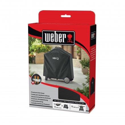Weber Abdeckhaube Q 2200 + 3200 Premium Rollwagen 2
