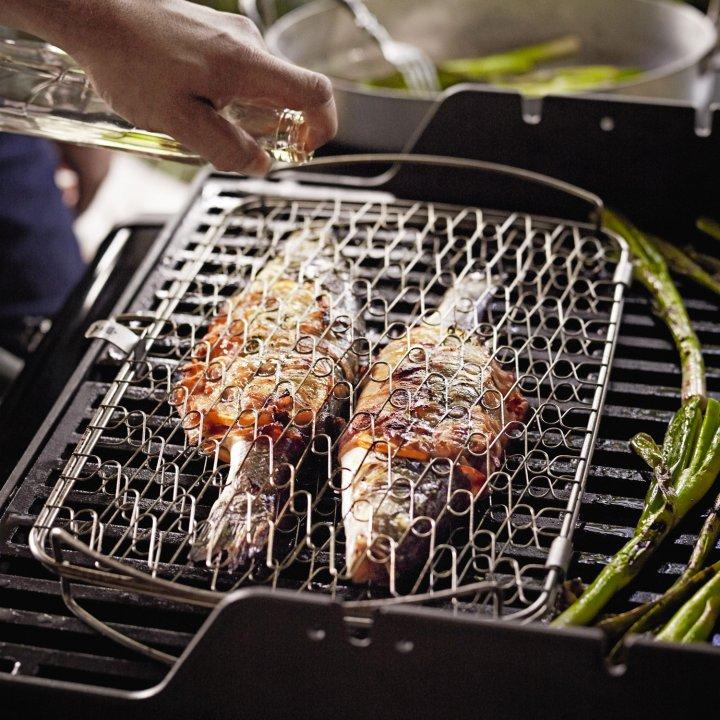 Weber Fisch und Gemüsehalter groß, Edelstahl 2
