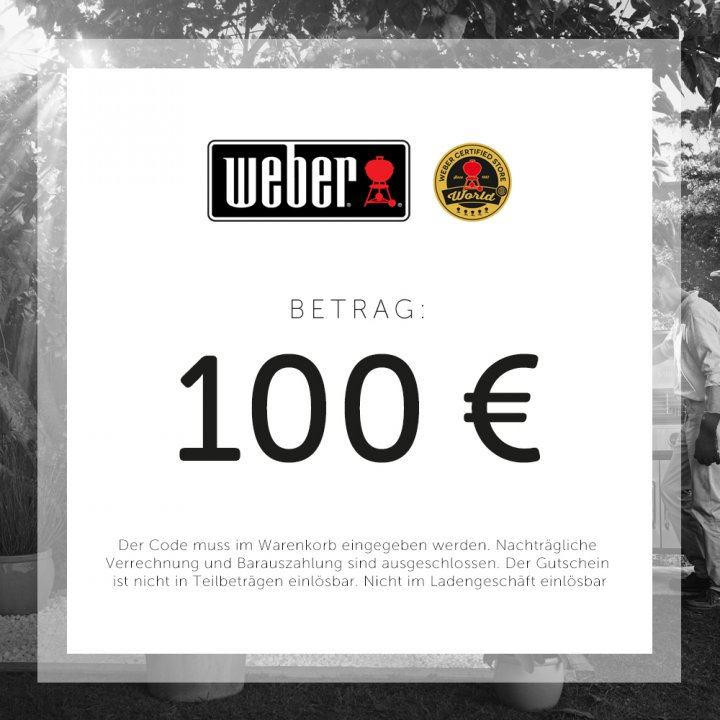 Weber Geschenkgutschein 100 EUR 2
