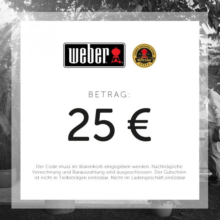 Weber Geschenkgutschein 25 EUR 2