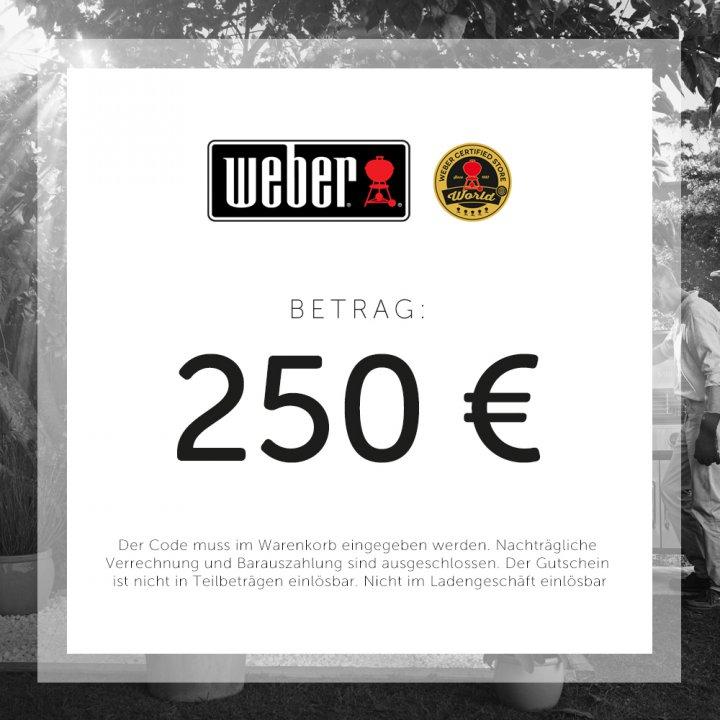 Weber Geschenkgutschein 250 EUR 2