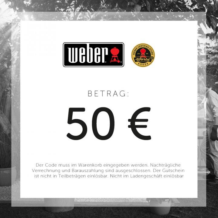 Weber Geschenkgutschein 50 EUR 2