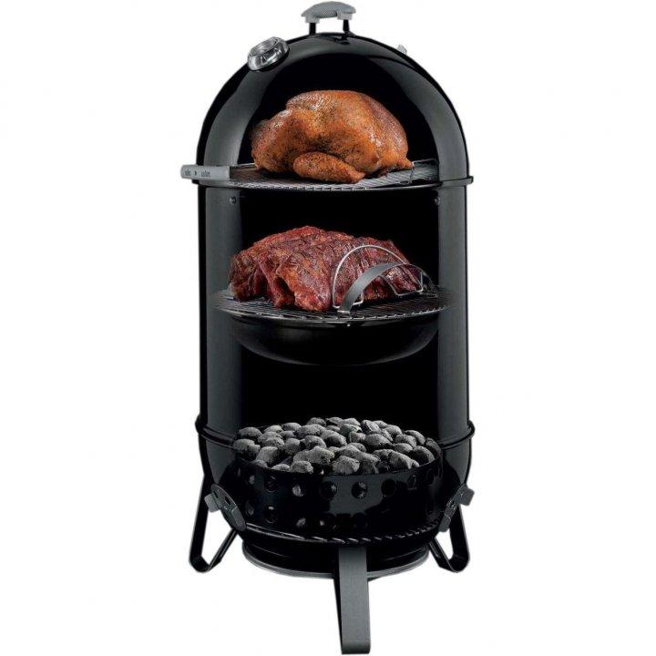 Weber Smokey Mountain Cooker 57 cm + gratis Abdeckhaube 2