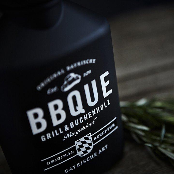 BBQUE Bayrische Barbecue Sauce Grill & Buchenholz 2