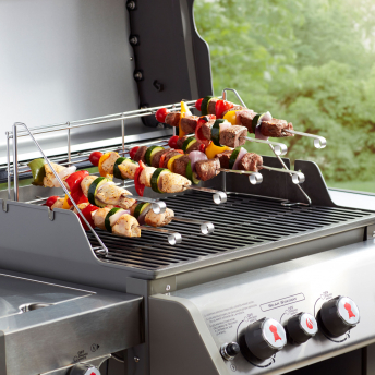 Weber Elevations Tiered Cooking (ETCS) Edelstahlrost & Spieß-Set