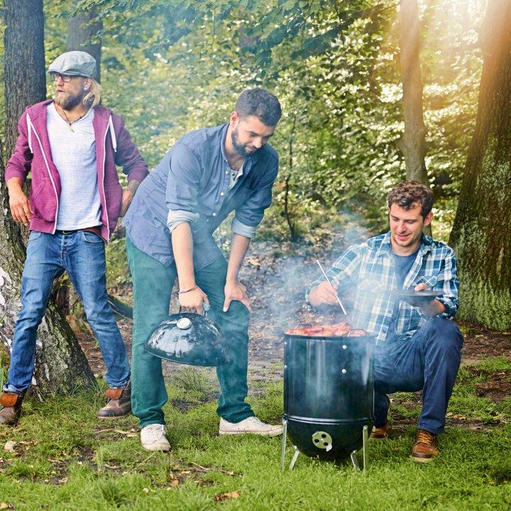 Weber Smokey Mountain Cooker 57 cm + gratis Abdeckhaube 4