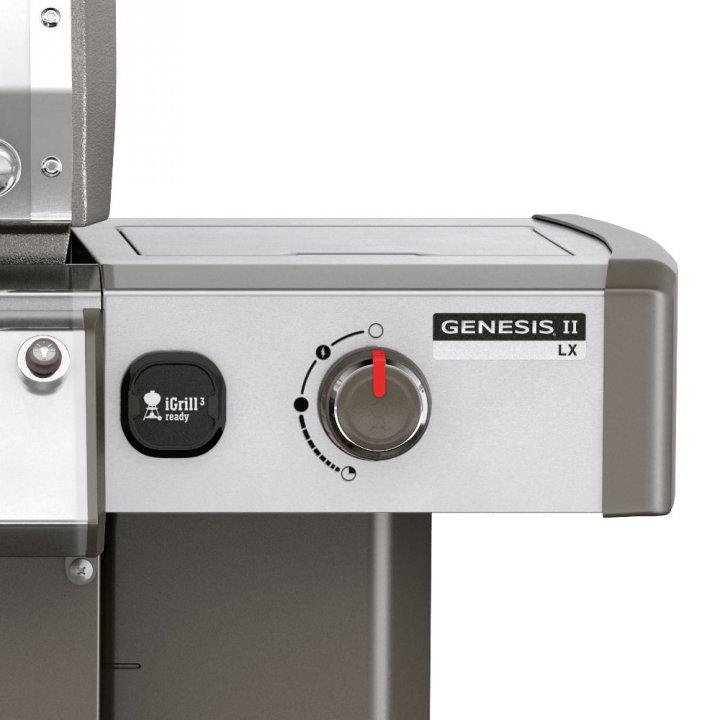 Weber Genesis II LX S-640 GBS, Edelstahl + gratis Drehspieß 4