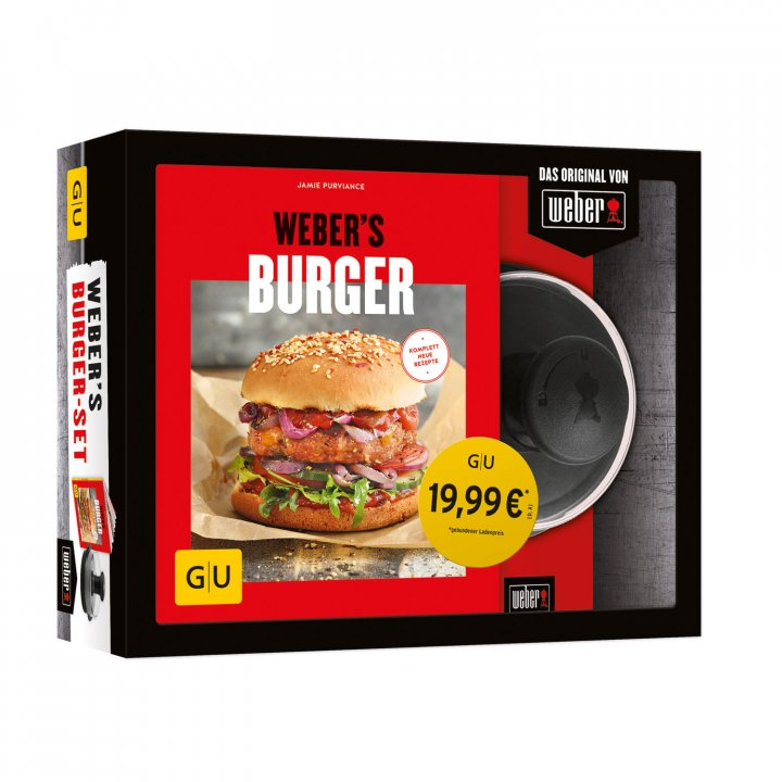 Weber Q 2200 Station, Blackline + gratis Burger-Set 5