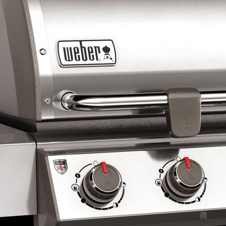 Weber Genesis II LX S-640 GBS, Edelstahl + gratis Drehspieß 6