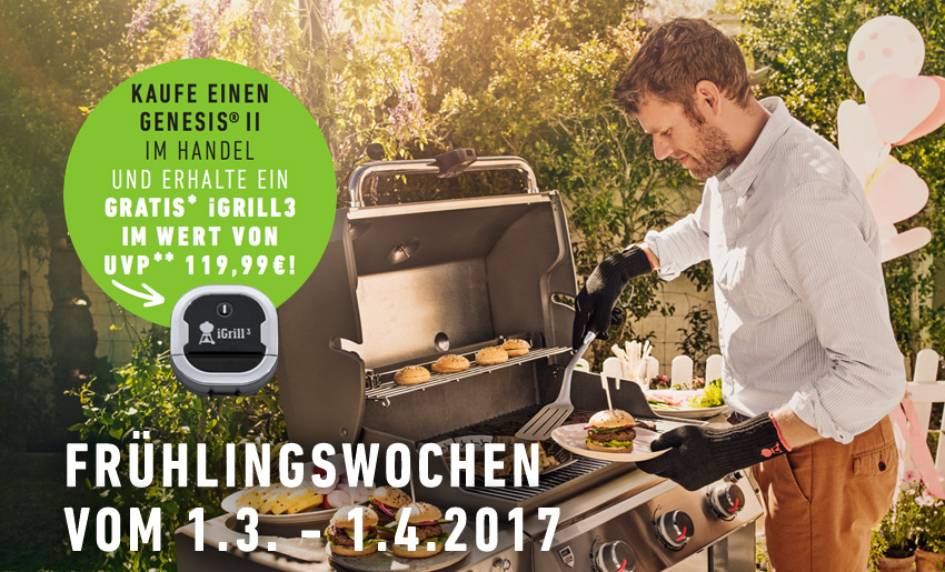 Weber Holzkohlegrill Bratwurst : Weber frühlingswochen weststyle