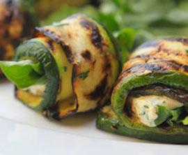 Gegrillte Zucchini-Wraps